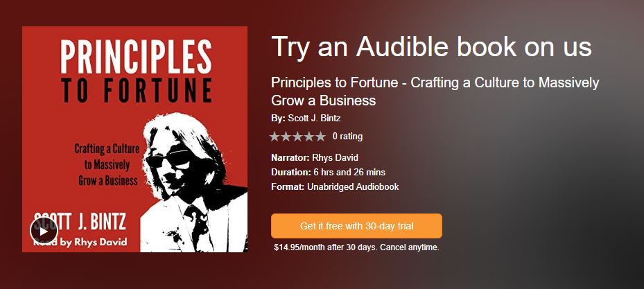 Principles to Fortune on Audible