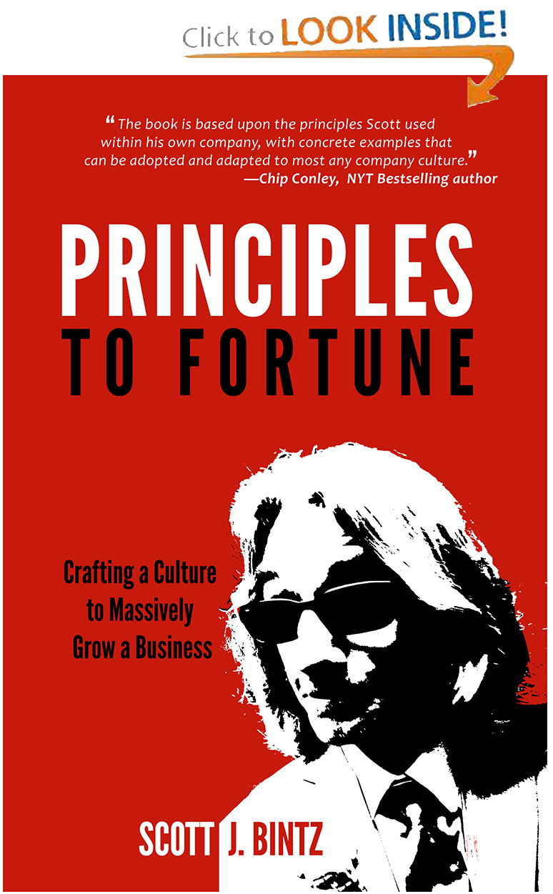 Principles To Fortune - The Book by Scott J. Bintz - Download A Look Inside The Book