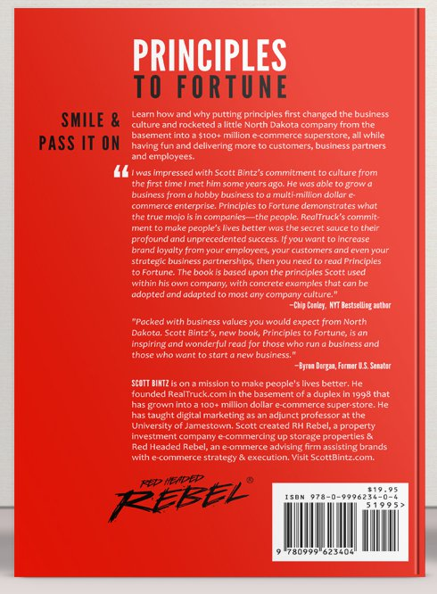 Principles To Fortune Book - Hard Cover - Back