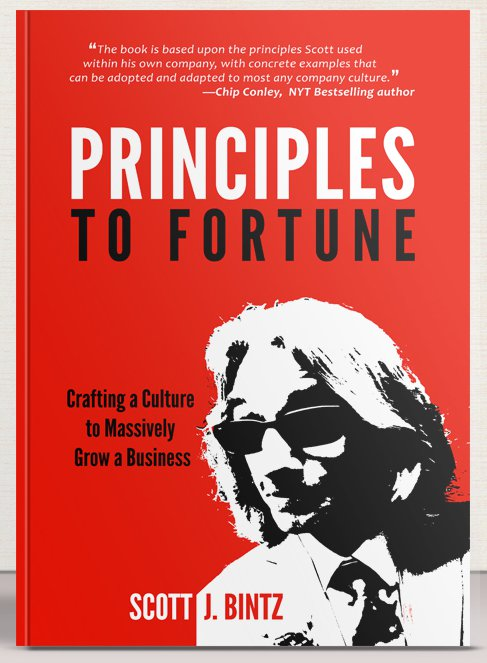 Principles To Fortune Book - Hard Cover - Front