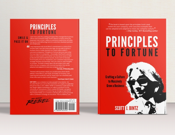 Principles To Fortune Book - Hard Cover Display