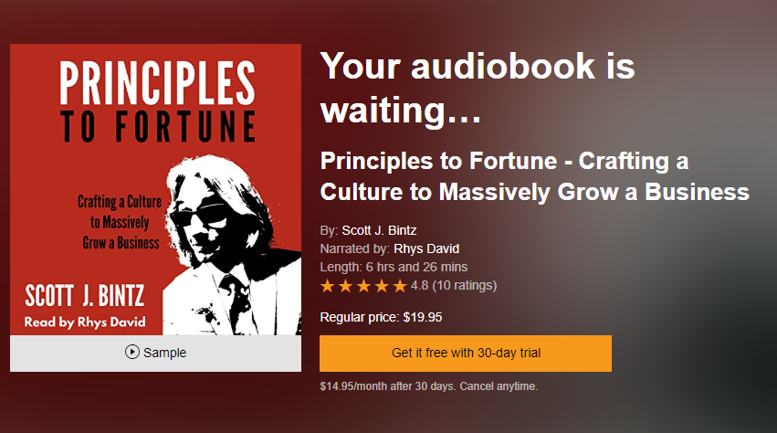 Principles to Fortune Audiobook