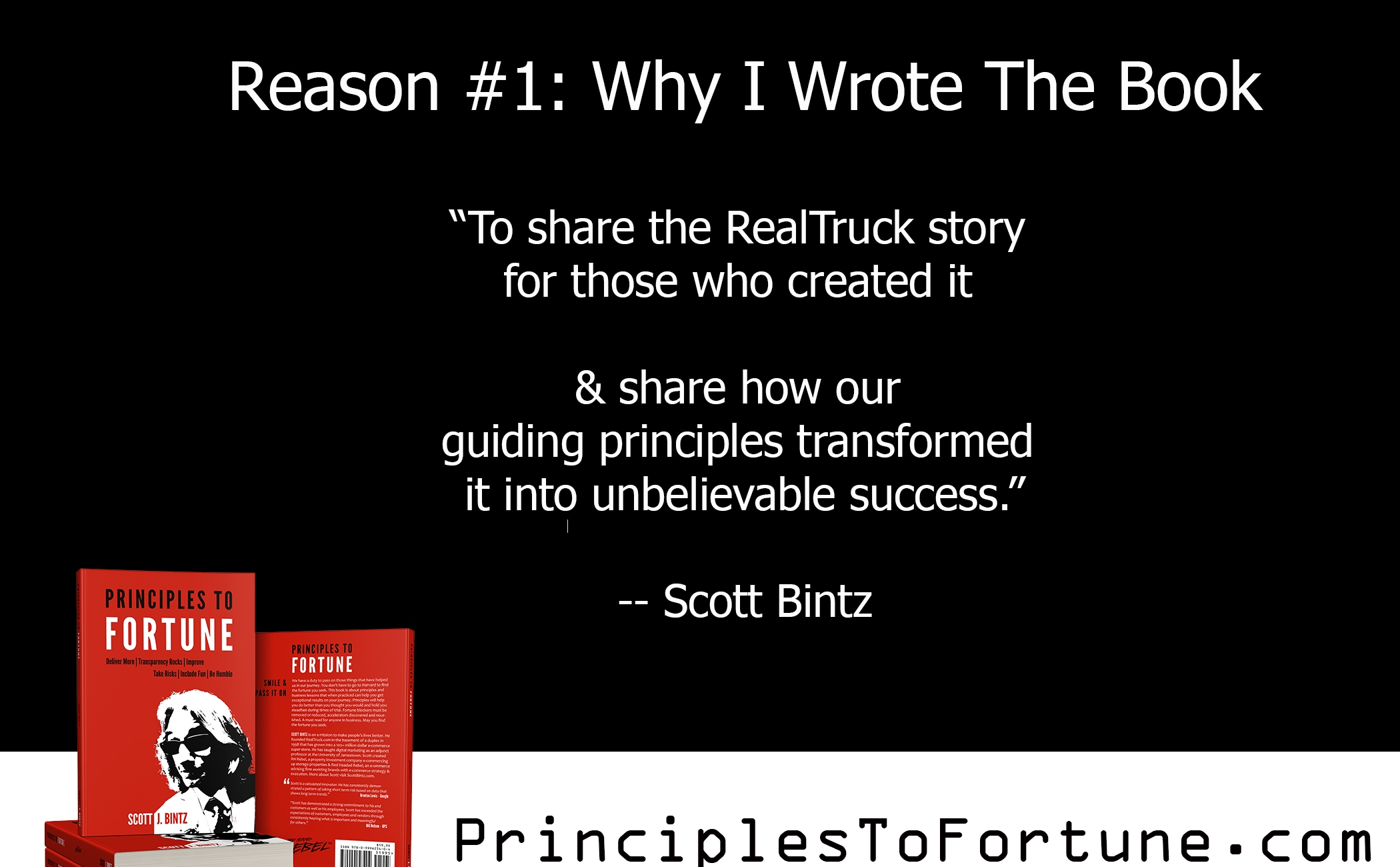 Reason 1: Why I Wrote The Book Principles To Fortune