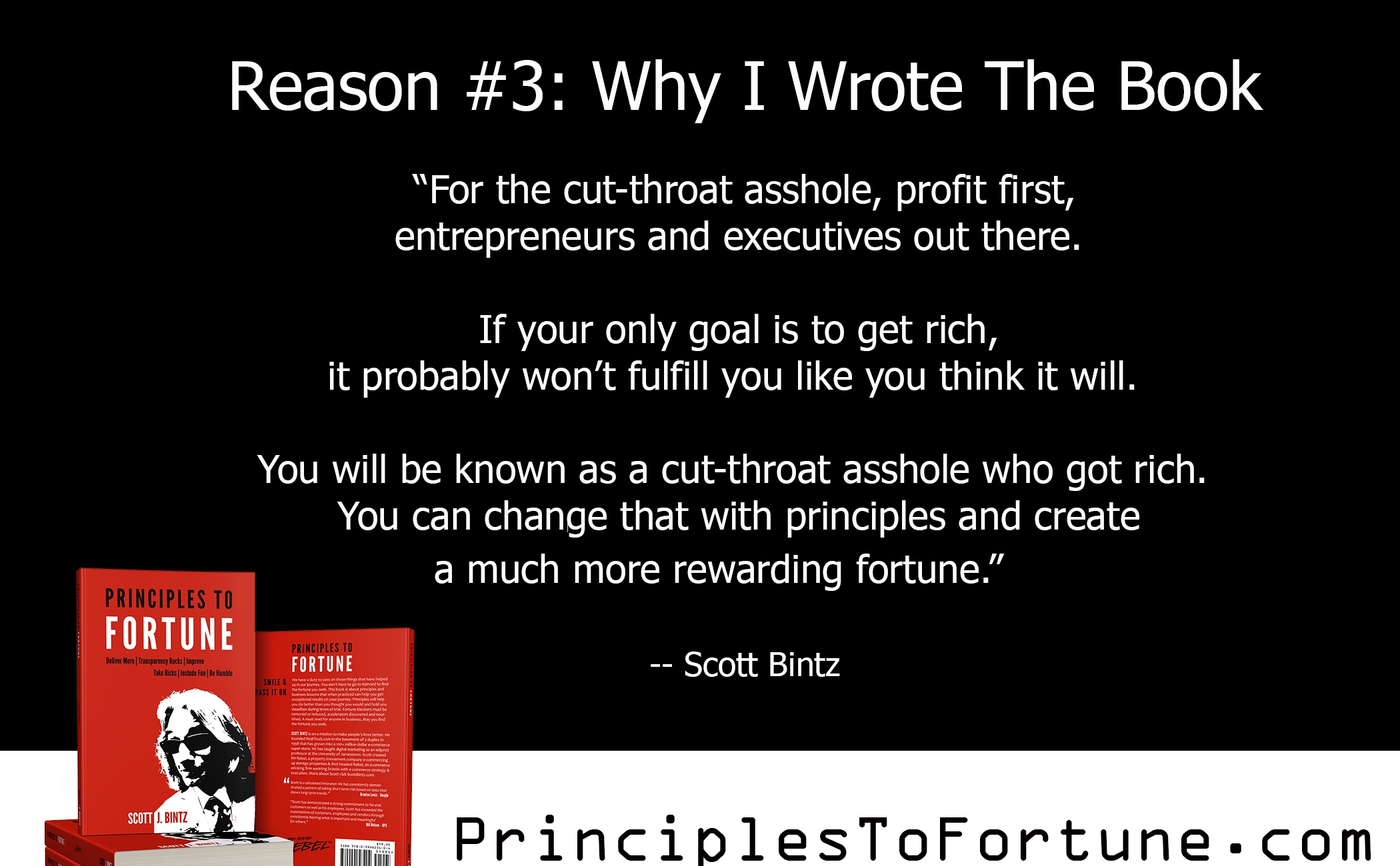 Reason 3: Why I Wrote The Book Principles To Fortune